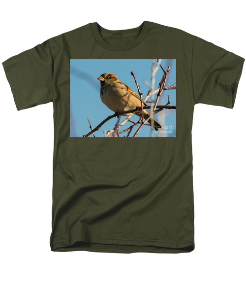 Female House Sparrow Men's T-Shirt  (Regular Fit) by Mike Dawson