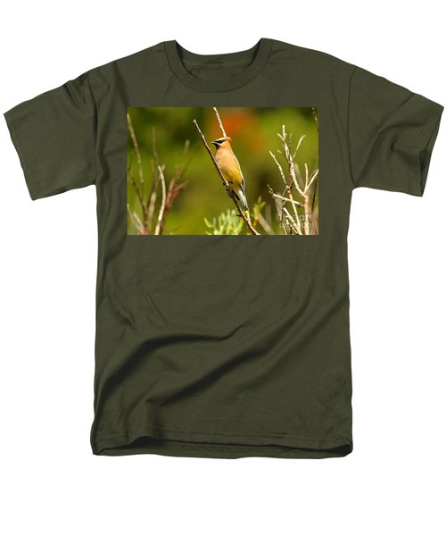 Fishercap Cedar Waxwing Men's T-Shirt  (Regular Fit) by Adam Jewell