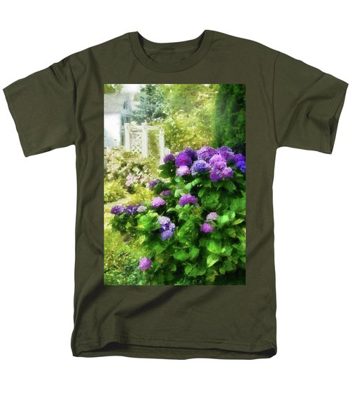 Flower - Hydrangea - Lovely Hydrangea  T-Shirt by Mike Savad
