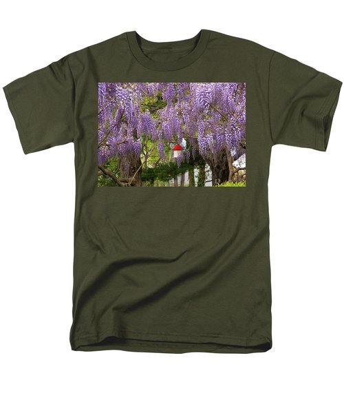 Flower - Wisteria - A house of my own T-Shirt by Mike Savad