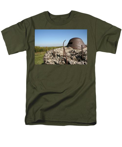 Men's T-Shirt  (Regular Fit) featuring the photograph Fort De Douaumont - Verdun by Travel Pics