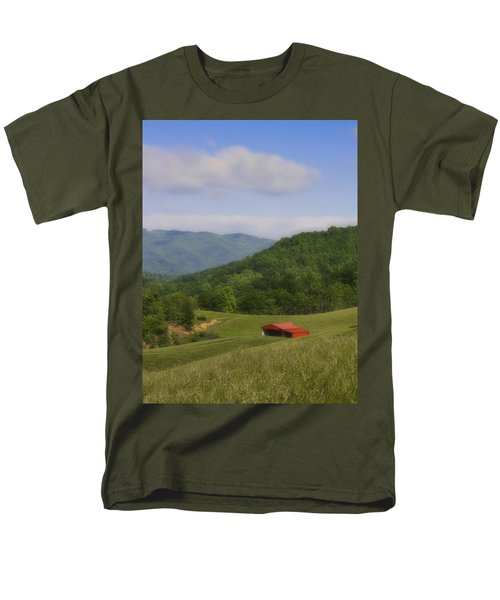Franklin County Virginia Red Barn T-Shirt by Teresa Mucha