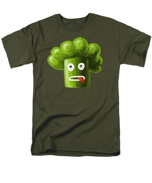 Funny Broccoli Men's T-Shirt  (Regular Fit) by Boriana Giormova