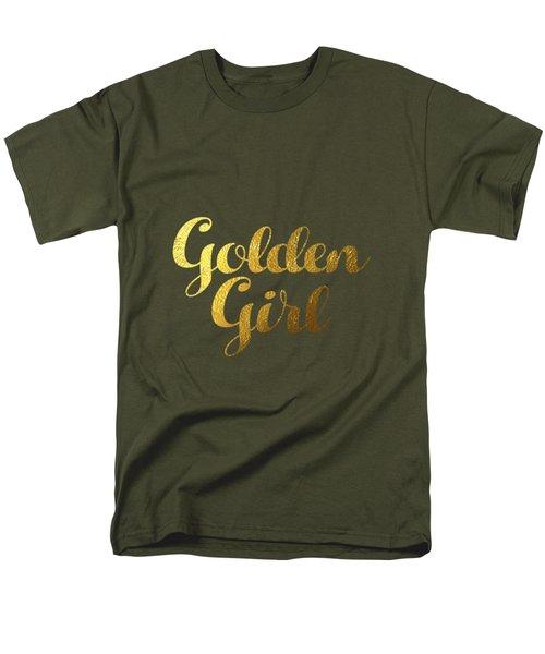 Golden Girl Typography Men's T-Shirt  (Regular Fit) by BONB Creative