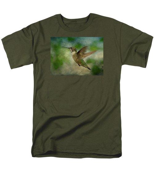 Hummingbird in Flight II T-Shirt by Sandy Keeton