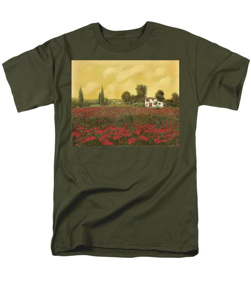 i papaveri e la calda estate T-Shirt by Guido Borelli