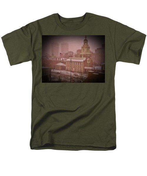 Independence Hall in the Snow T-Shirt by Bill Cannon