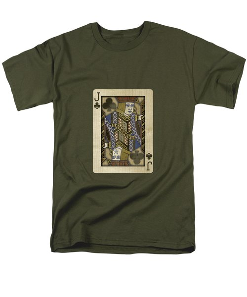 Jack Of Clubs In Wood Men's T-Shirt  (Regular Fit) by YoPedro