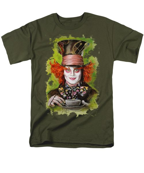 Johnny Depp As Mad Hatter Men's T-Shirt  (Regular Fit) by Melanie D