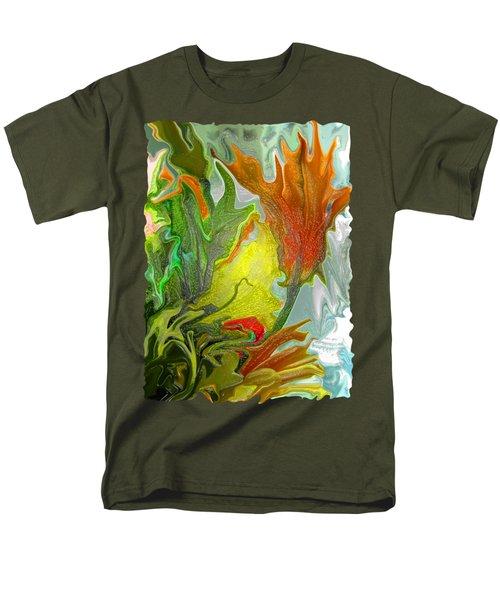 Orange Tulip Men's T-Shirt  (Regular Fit) by Kathy Moll