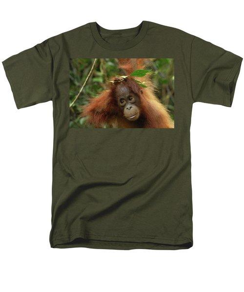 Orangutan Pongo Pygmaeus Baby, Camp Men's T-Shirt  (Regular Fit) by Thomas Marent