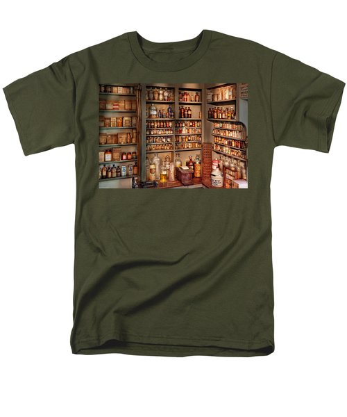Pharmacy - Get me that bottle on the second shelf T-Shirt by Mike Savad