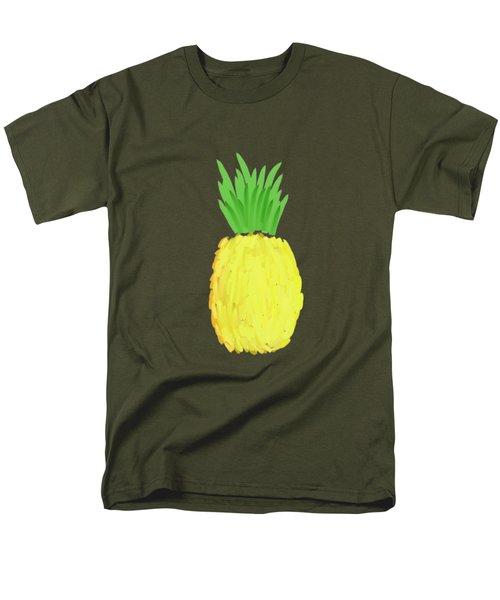 Pineapple Men's T-Shirt  (Regular Fit) by Priscilla Wolfe