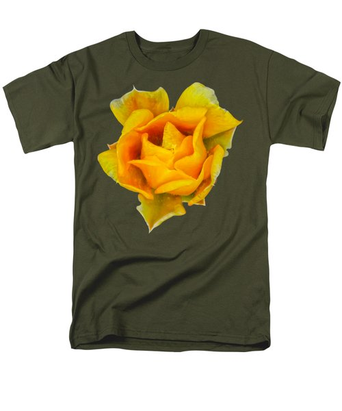 Prickly Pear Flower H11 Men's T-Shirt  (Regular Fit) by Mark Myhaver