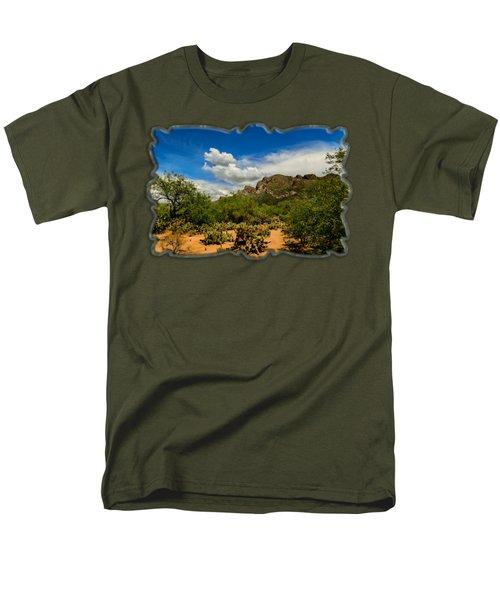Pusch Ridge Vista H14 Men's T-Shirt  (Regular Fit) by Mark Myhaver