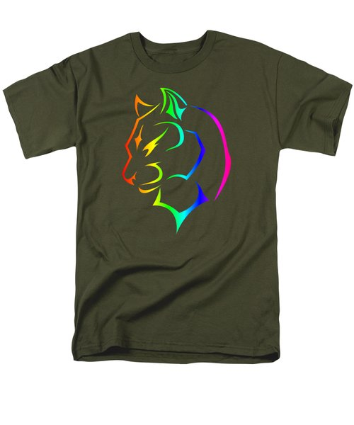 Rainbow Panther Men's T-Shirt  (Regular Fit) by Frederick Holiday