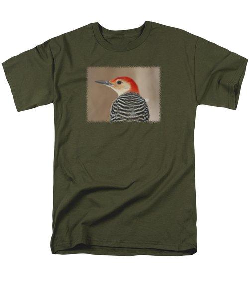 Red Bellied Woodpecker Glamour Portrait Men's T-Shirt  (Regular Fit) by John Harmon