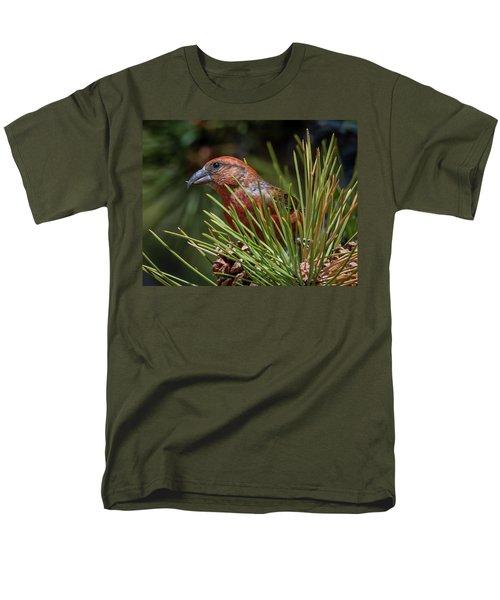 Red Crossbill Men's T-Shirt  (Regular Fit) by Michael Cunningham