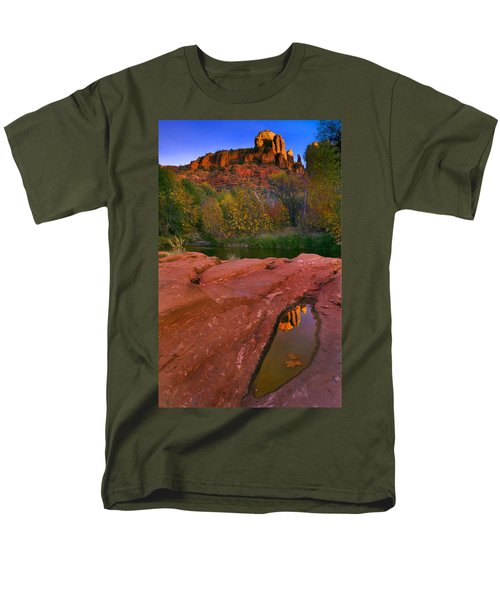 Red Rock Reflection T-Shirt by Mike  Dawson