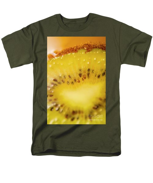 Sliced Kiwi Fruit Floating In Carbonated Beverage Men's T-Shirt  (Regular Fit) by Jorgo Photography - Wall Art Gallery
