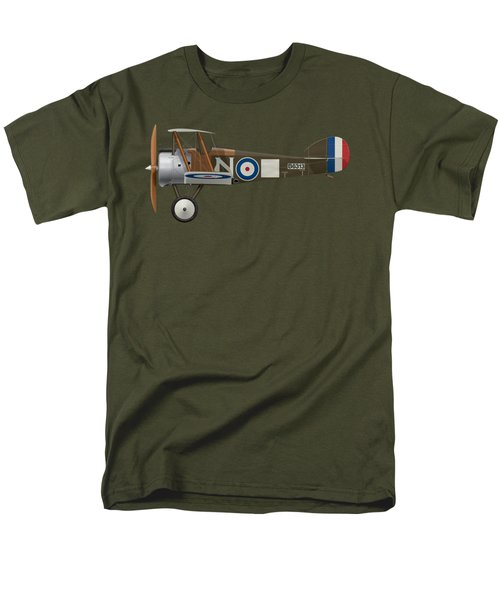Sopwith Camel - B6313 March 1918 - Side Profile View Men's T-Shirt  (Regular Fit) by Ed Jackson