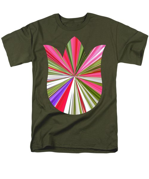 Striped Tulip Men's T-Shirt  (Regular Fit) by Marian Bell