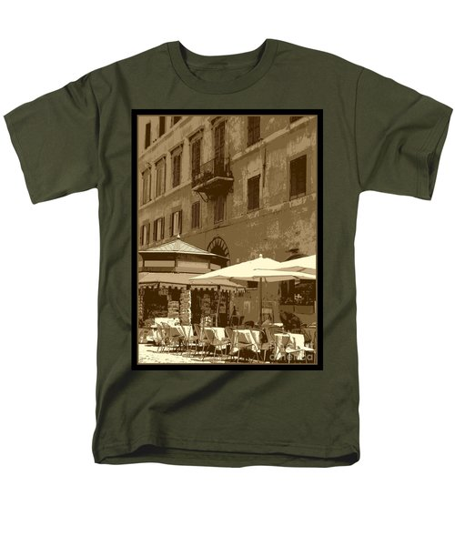 Sunny Italian Cafe - Sepia T-Shirt by Carol Groenen
