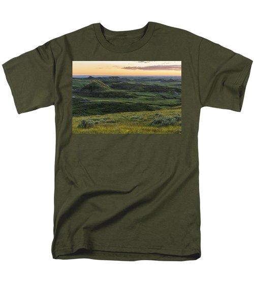 Sunset Over Killdeer Badlands Men's T-Shirt  (Regular Fit) by Robert Postma