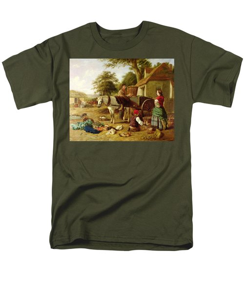 The Market Cart Men's T-Shirt  (Regular Fit) by Henry Charles Bryant
