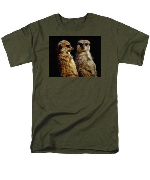 The Meerkats Men's T-Shirt  (Regular Fit) by Ernie Echols