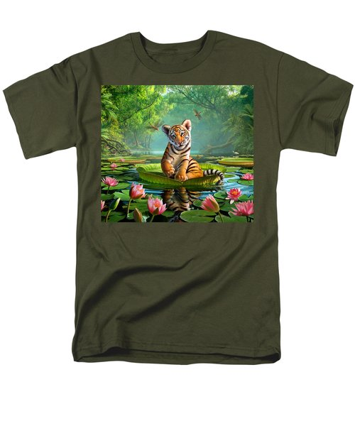 Tiger Lily Men's T-Shirt  (Regular Fit) by Jerry LoFaro