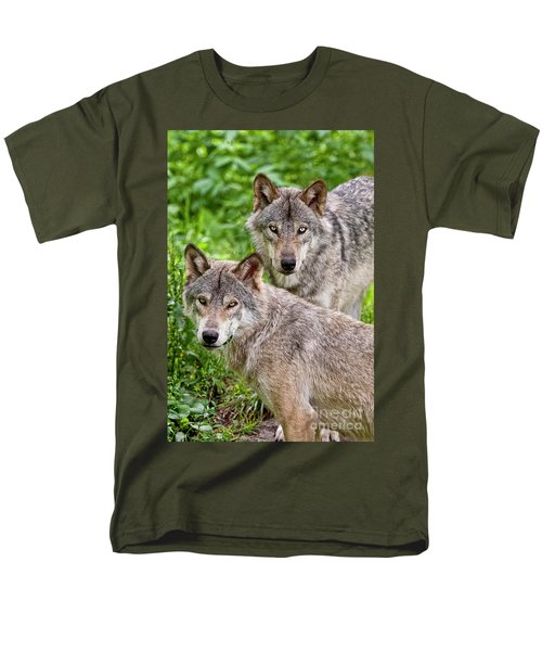 Timber Wolf Pair T-Shirt by Michael Cummings