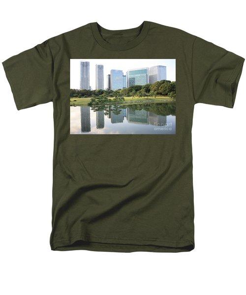 Tokyo Skyline Reflection Men's T-Shirt  (Regular Fit) by Carol Groenen