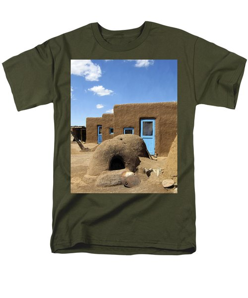 Tres Casitas Taos Pueblo T-Shirt by Kurt Van Wagner