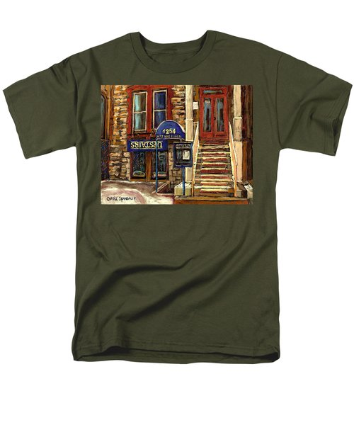 UPSTAIRS JAZZ BAR AND GRILL MONTREAL T-Shirt by CAROLE SPANDAU