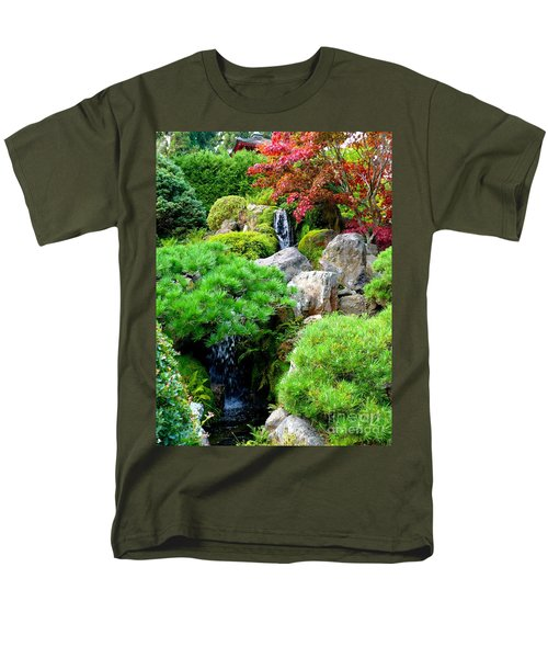 Waterfalls in Japanese Garden T-Shirt by Carol Groenen