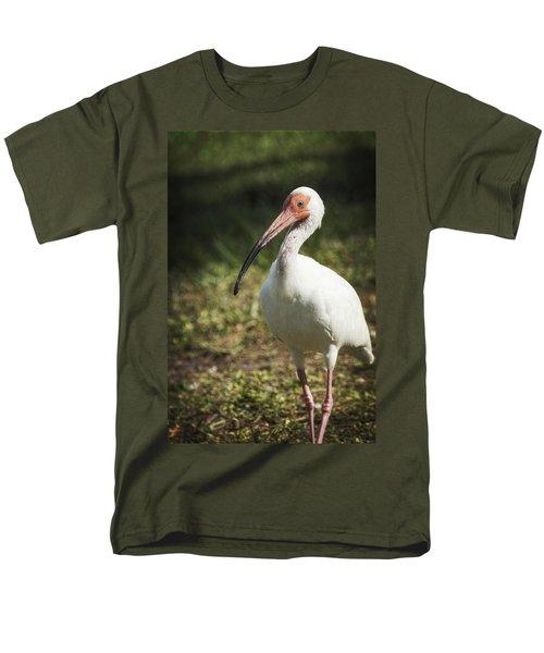 White Ibis On A Walk  Men's T-Shirt  (Regular Fit) by Saija  Lehtonen
