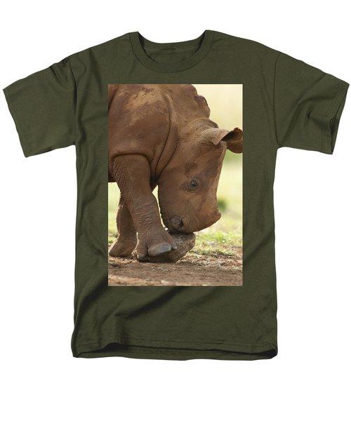 White Rhinoceros Ceratotherium Simum T-Shirt by Matthias Breiter