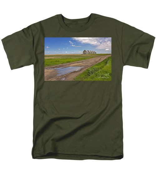 White Sheds on a Prairie Farm in Spring T-Shirt by Louise Heusinkveld