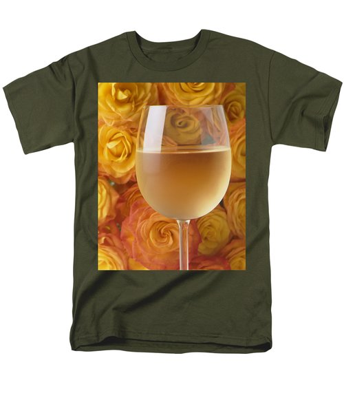 White wine and yellow roses T-Shirt by Garry Gay