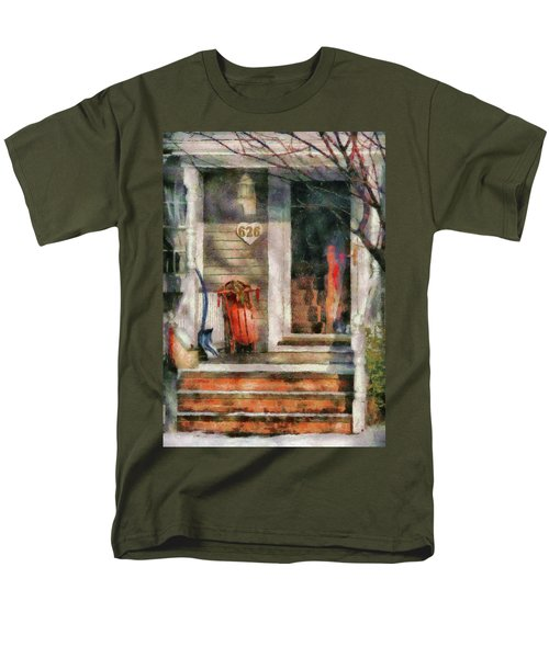 Winter - Rosebud and Shovel - Painted T-Shirt by Mike Savad