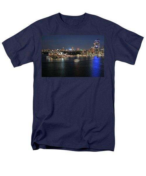 Sydney Harbor At Circular Quay Men's T-Shirt  (Regular Fit) by Ellen Henneke