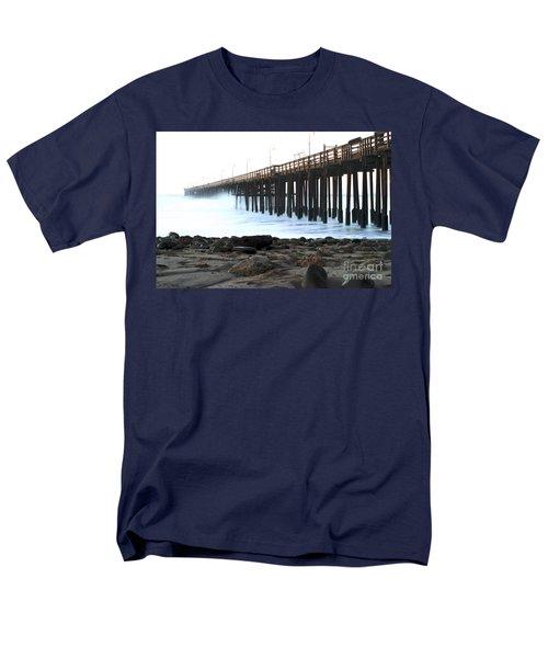 Ocean Wave Storm Pier T-Shirt by Henrik Lehnerer