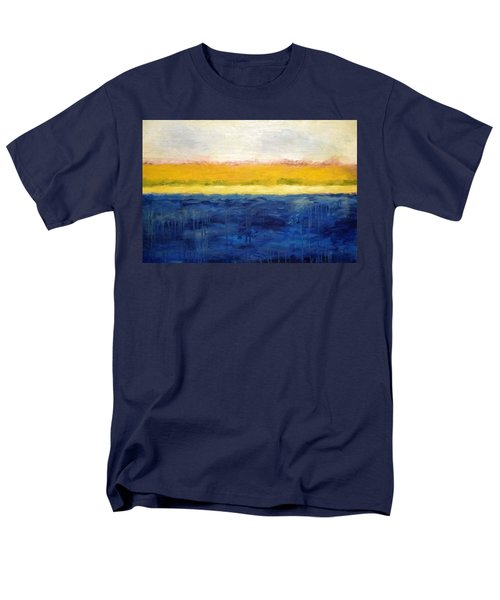 Abstract Dunes with Blue and Gold T-Shirt by Michelle Calkins