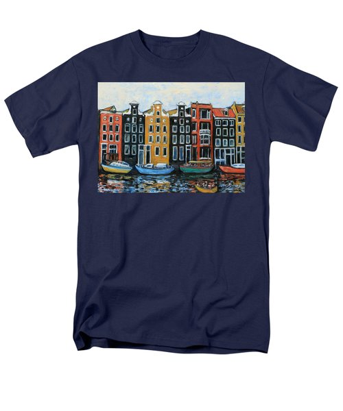 Boats In Front of the Buildings VI T-Shirt by Xueling Zou