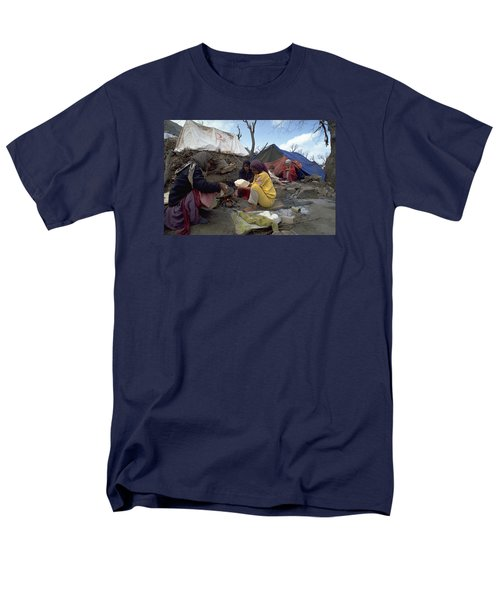 Men's T-Shirt  (Regular Fit) featuring the photograph Camping In Iraq by Travel Pics