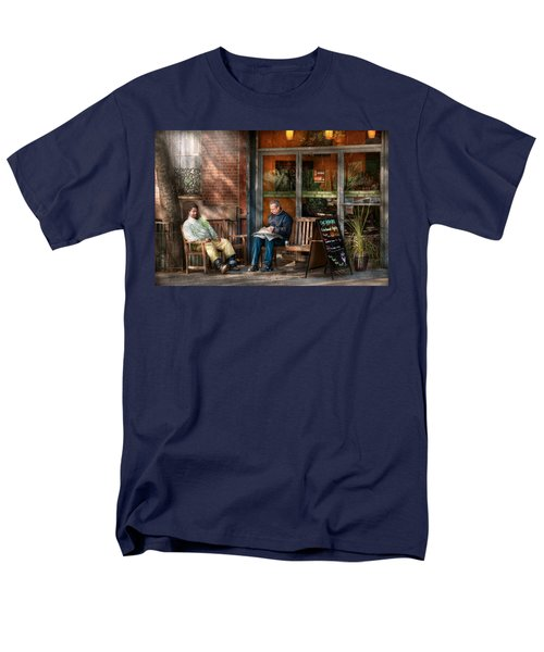 City - New York - Greenwich Village - The path cafe  T-Shirt by Mike Savad
