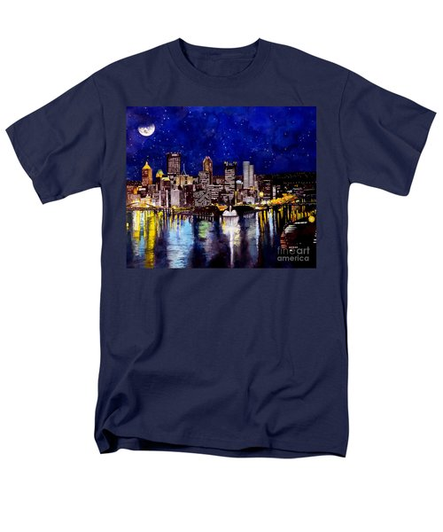 City Of Pittsburgh At The Point Men's T-Shirt  (Regular Fit) by Christopher Shellhammer