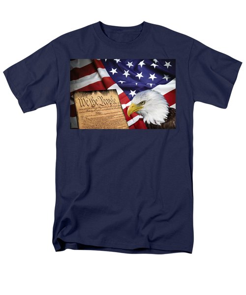 FLAG CONSTITUTION EAGLE T-Shirt by Daniel Hagerman