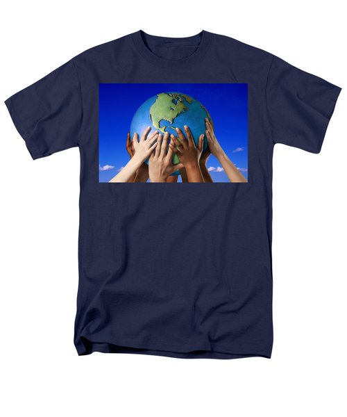 Hands On A Globe T-Shirt by Don Hammond